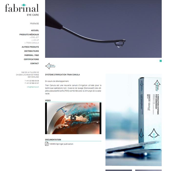 Site internet Fabrinal