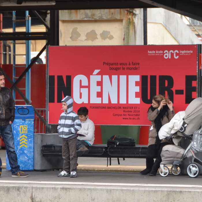 Affiche campagne rentrée He-Arc Ingénieurie