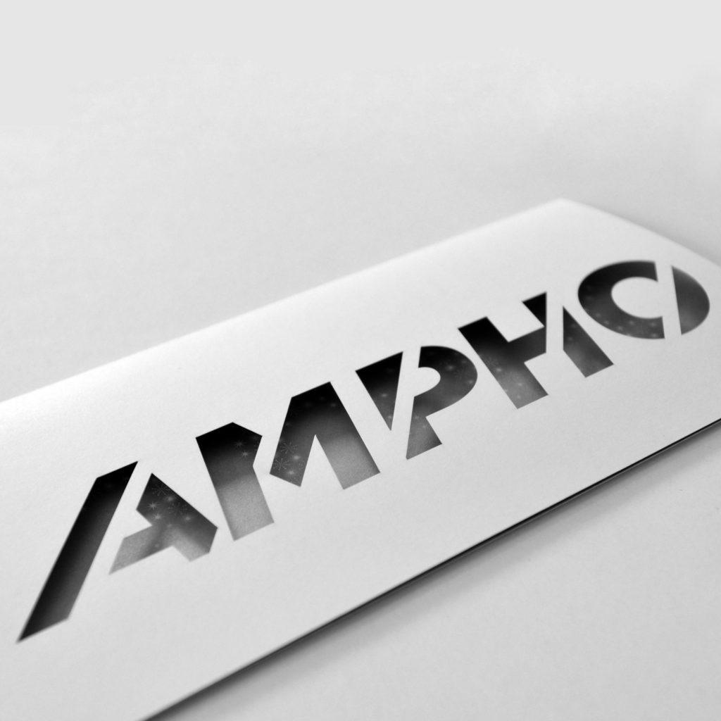 Carte de voeux phosphorescente ampho