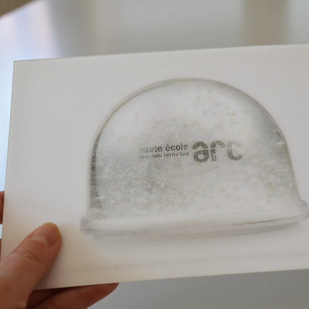 Carte de voeux He-Arc lenticulaire