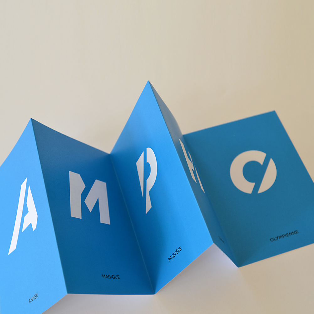 Carte de voeux leporello ampho