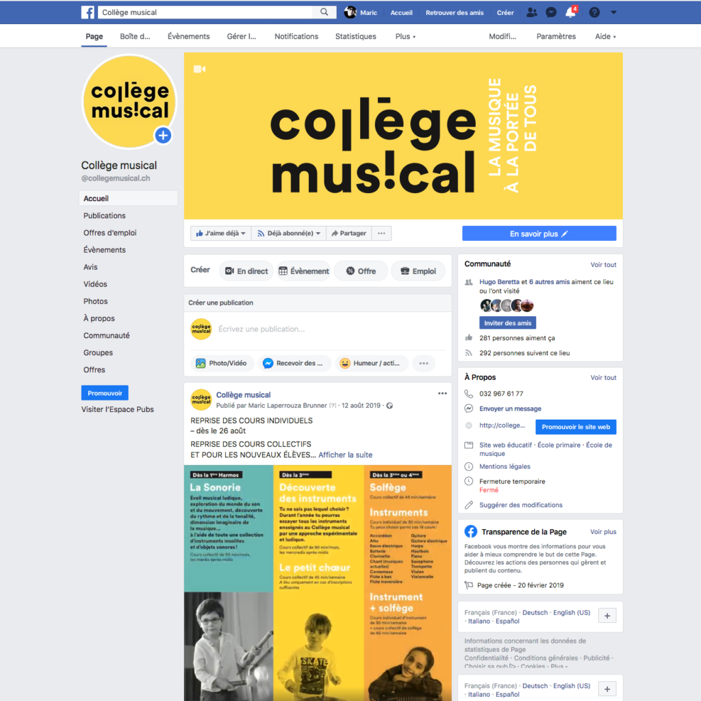facebook collège msucial